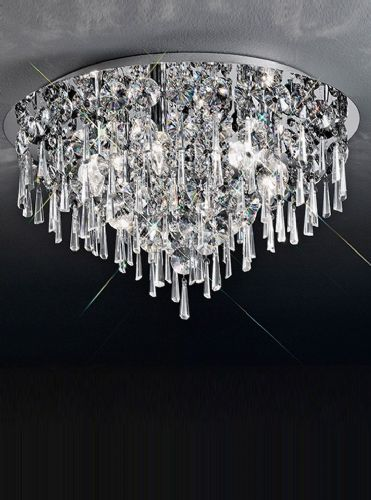 Franklite CF5718 Chrome Ceiling Light